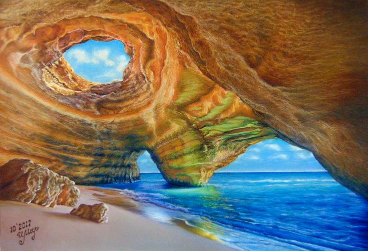 Pastel painting,  Pastelmat paper, 35x50 cm