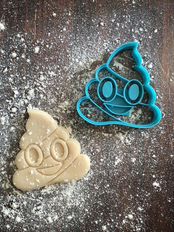 Image of Poop Emoji Cookie Cutter Stamp