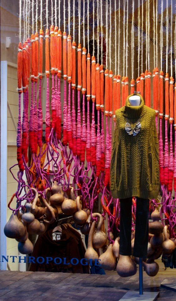 Anthropologie Fall Window display