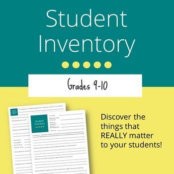 Best 25+ Student inventory ideas on Pinterest Student survey - student survey template