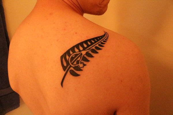 a tattoo i got in new zealand which represents the silver fern that is a very popular symbol of. Black Bedroom Furniture Sets. Home Design Ideas