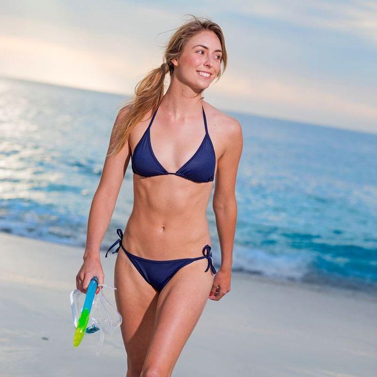 Szörf Strand - Mae háromszög bikinifelső, kék TRIBORD - Strand ruházat