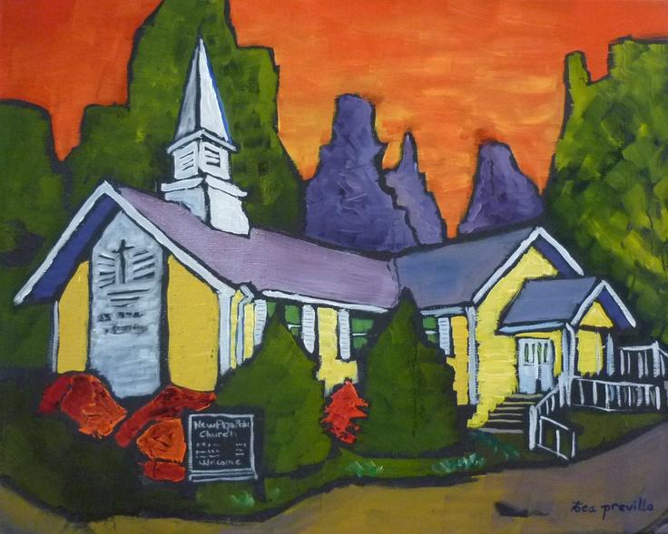 New Apostolic Church, Castlegar, BC - Art by Tea Preville // Iglesia Nueva Apostolica, Castlegar, BC - Arte por Tea Preville