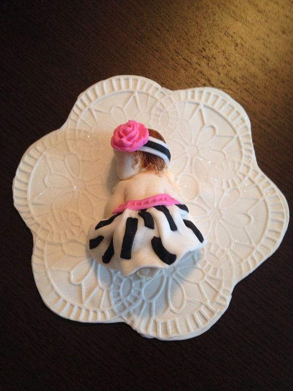 Fondant baby/ edible/ baby shower/ party favors/ cake topper/ cupcake topper/zebra baby on Etsy, $11.00