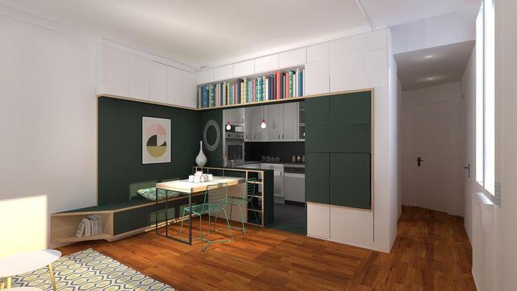 les 25 meilleures id es de la cat gorie cuisine parisienne sur pinterest mur de marbre. Black Bedroom Furniture Sets. Home Design Ideas