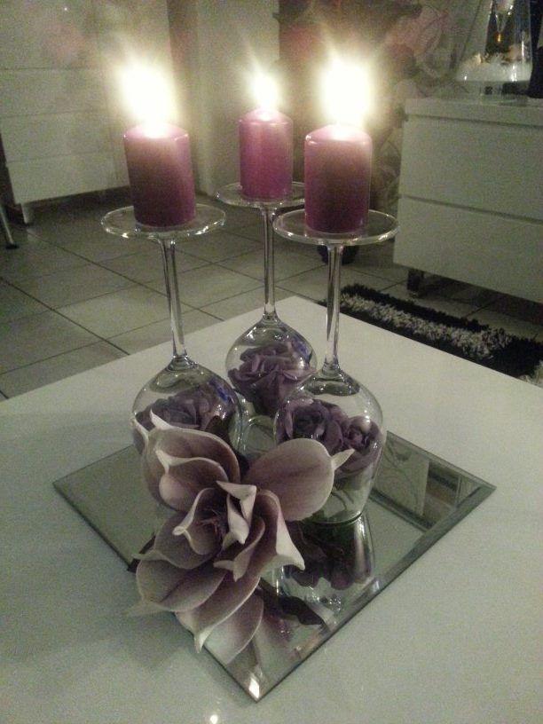 Rozen in wijnglas