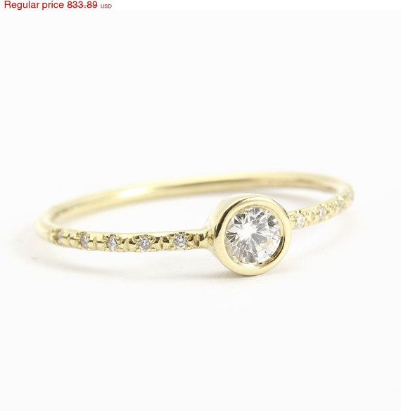 San Valentín en venta Delicado anillo de por SillyShinyDiamonds