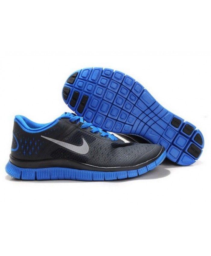 2fd3157616da Nike Free Run 4.0 V2 Mens UK Sale Black Blue
