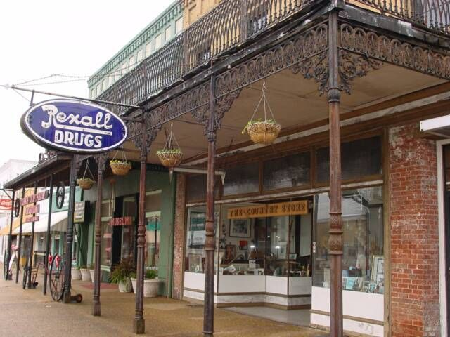 drug stores  rexalll drug store downtown tuskegee    drug