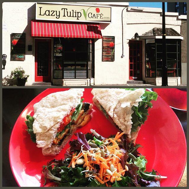 Delicious & nutritious! Another fabulous #lunch enjoyed @lazytulipcafe! #veggiefocaccia #getoutandeat #barrierestaurants #downtownbarrie