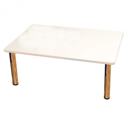 Ozzi Rectangle Table White - Brighten up the classroom with this white table! Perfect size for small group lessons, puzzle play, art and craft and more! Use at home or the centre.. the childcare quality means it will be extra durable!