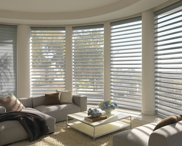 Luxaflex Pirouette Shadings. Beautiful. Elegant. The perfect covering for your windows.