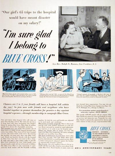 1955 Blue Cross Insurance