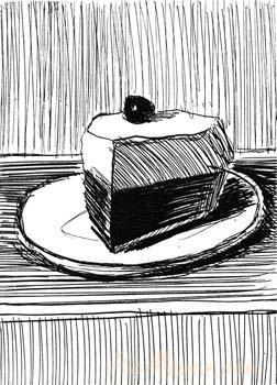 Pie Slice - 1962, Wayne Thiebaud