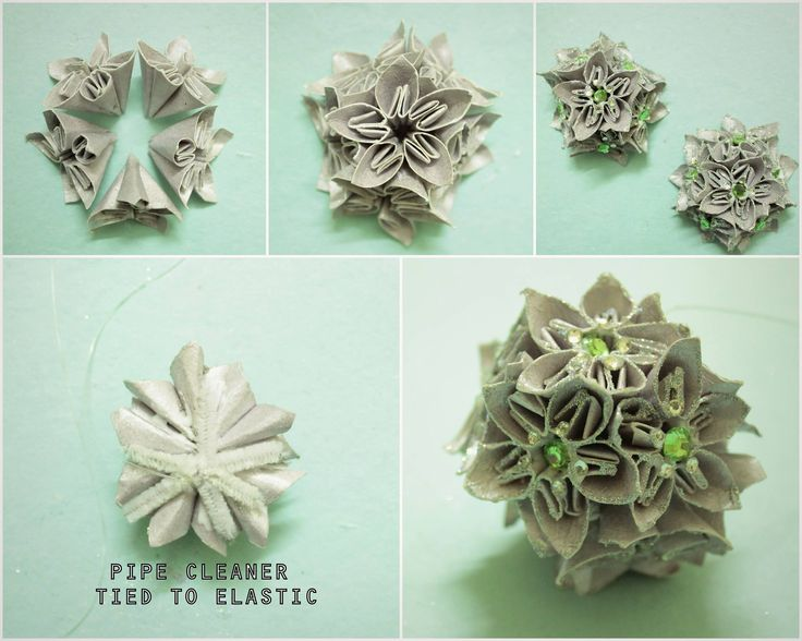 Kusudama flower ball, a gorgeous Christmas ornament! DIY from PieLaneCrafts Find the flower tutorial here