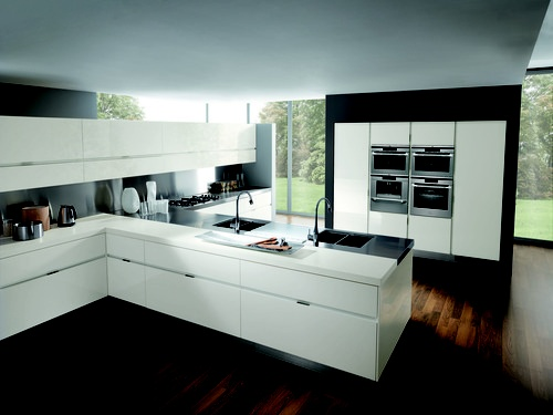 Modernen Weißen Küche, Italienische Küche, Moderne Küchen, Moderne Küche  Design, Küche Designs, Weißen Küchenschränke, Offene Küche, Goals, Deco  Küche