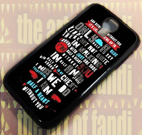 Absolutely Love One Direction For Samsung Galaxy S4 Black Rubber Case