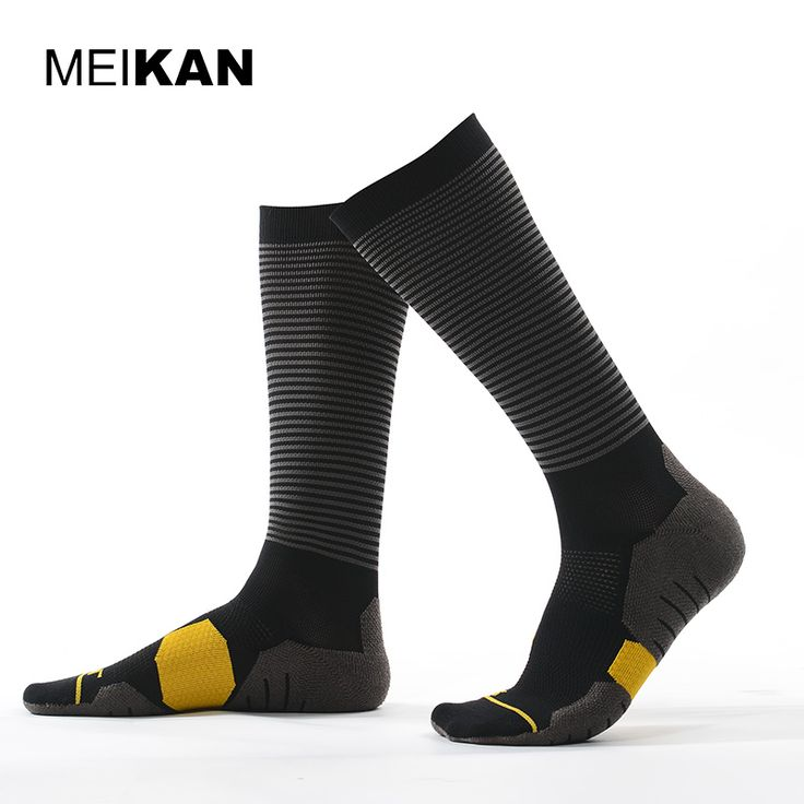 Soccer Socks High Knee Outdoor Calcetines Ciclismo Meias Esportivas Compression Socks For Men Professional Coolmax Cycling Socks