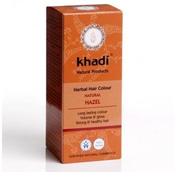 Vopsea de par naturala- saten nuca, 100g, Khadi - Sabedoria