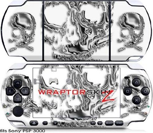 Sony PSP 3000 Decal Style Skin - Chrome Skulls on White (OEM Packaging)   http://ibestgadgets.com/product/sony-psp-3000-decal-style-skin-chrome-skulls-on-white-oem-packaging/   #gadgets #electronics #digital #mobile