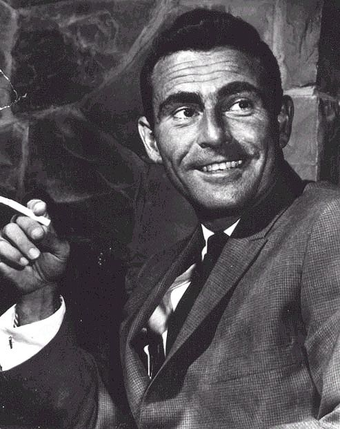 """6/16/15  9:19p  Rod Serling - Screen Writer best known for his shows, """"The Twilight Zone"""" and """"Night Gallery""""     12/25/1924-6/28/1975 at the age of 50 From Smoking A Very Bad Habit. rodserling.com"""