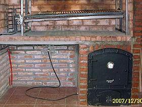 Horno de calor envolvente a gas bajo parrilla carlos for Lenos a gas modernos