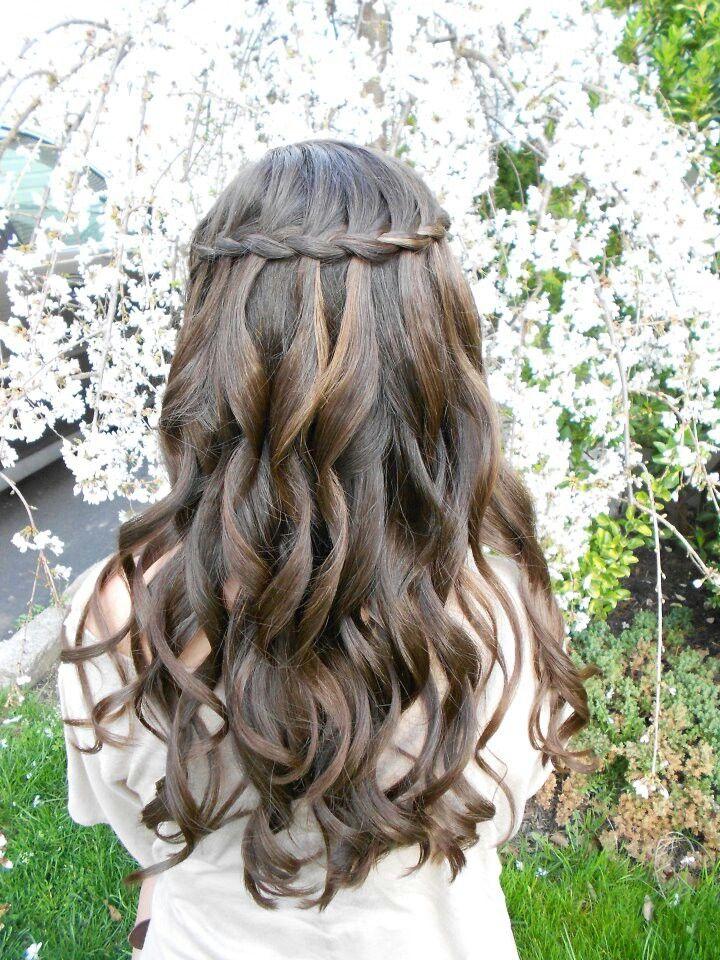 Peachy 1000 Ideas About Waterfall Braid Curls On Pinterest Waterfall Short Hairstyles For Black Women Fulllsitofus