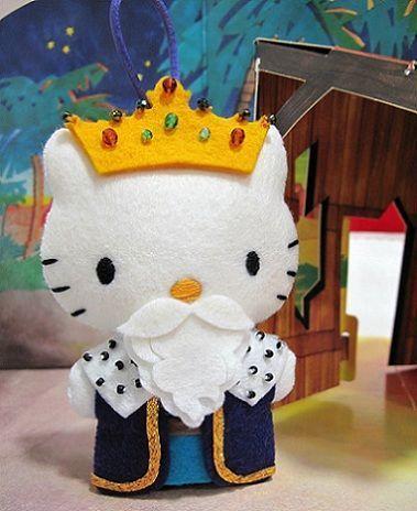 1000 images about hello kitty on pinterest perler bead - Munecos de navidad ...