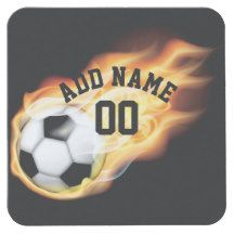 Football/Soccer Party Customizable Square Paper Coaster