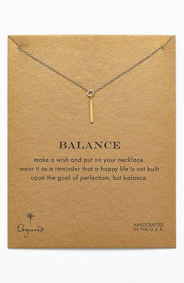 Libra gift ideas - Free shipping and returns on Dogeared 'Reminder - Balance' Boxed Pendant Necklace at Nordstrom.com. A simple bar pendant offers a gentle reminder of healthy balance on a slim, handcrafted necklace.