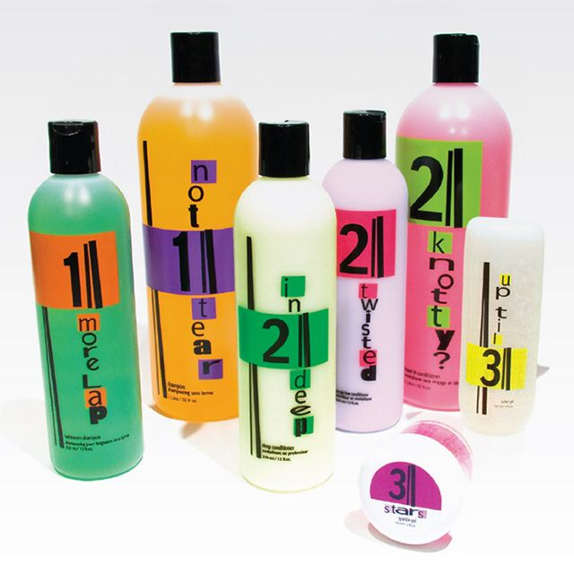 A selection of our very own products including shampoo for swimmers and cradle cap!