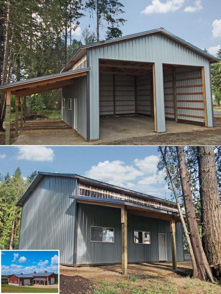 Pole Barn Shop Interior Ideas : interior, ideas, Interior, Garage, Shops, Exterior., #garageshop, #garage, #workshopbuilding, Metal, Buildings,, Building,, Building, Designs