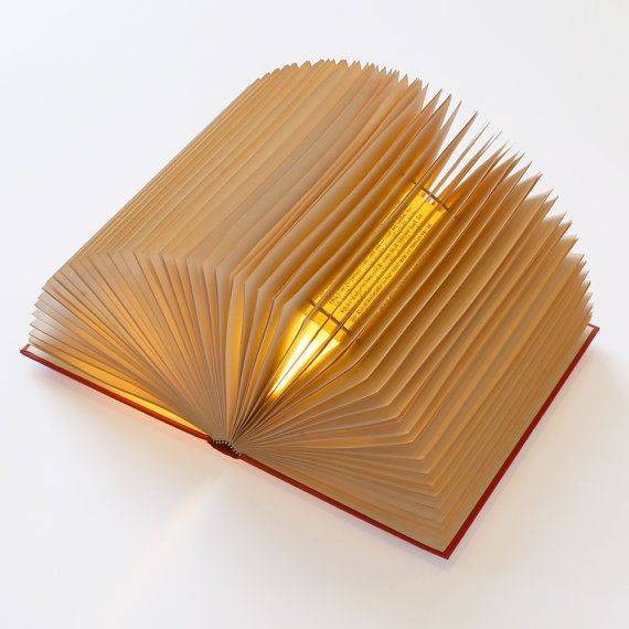Handmade Lamps from Used Books