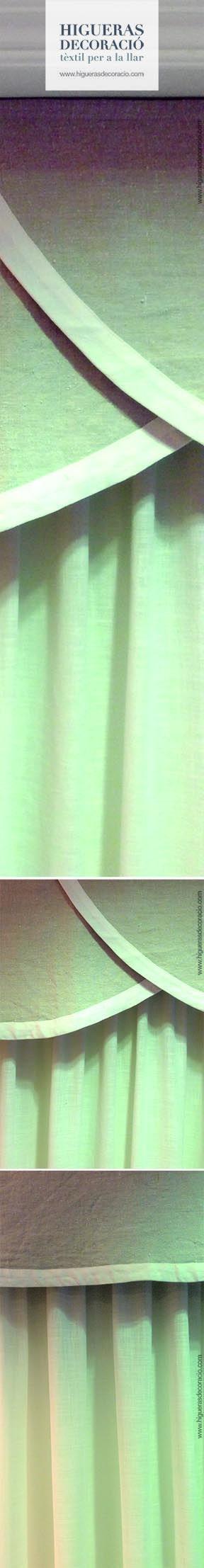 cortina con faldn faldn de lino con forma para tus cortinas