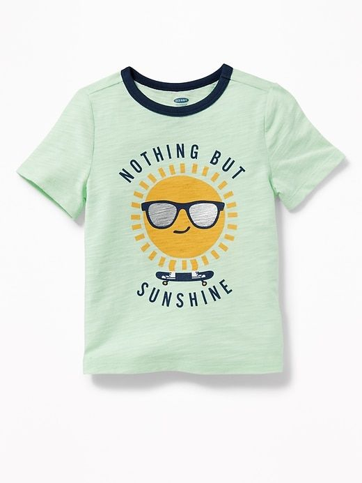 bf750bfa3acbb Sunshine-Graphic Crew-Neck Tee for Toddler Boys