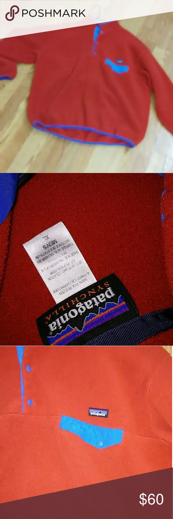 Patagonia Fleece Pullover Excellent condition Red and blue Patagonia Jackets & Coats