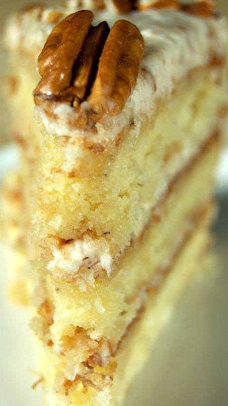 Italian Cream Cake Recipe ~ Beyond delicious