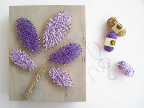 DIY string wall art. Kollabora Alt Summit Challenge #KollaboraAltSummit #Home
