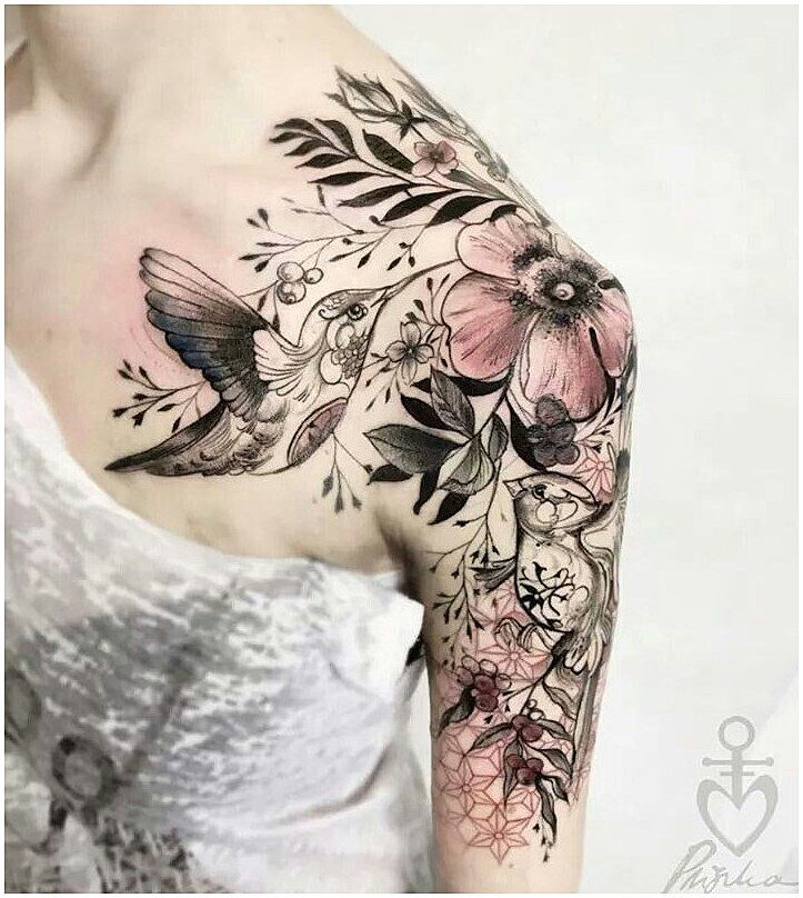 #WomensTattoo #WomensTattooIdeas Picture outcome for lace and jewel half sleeve tat…
