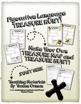 Figurative Language Treasure Hunt - Use With ANY Text A fun close-reading activity for upper elementary and middle school students.