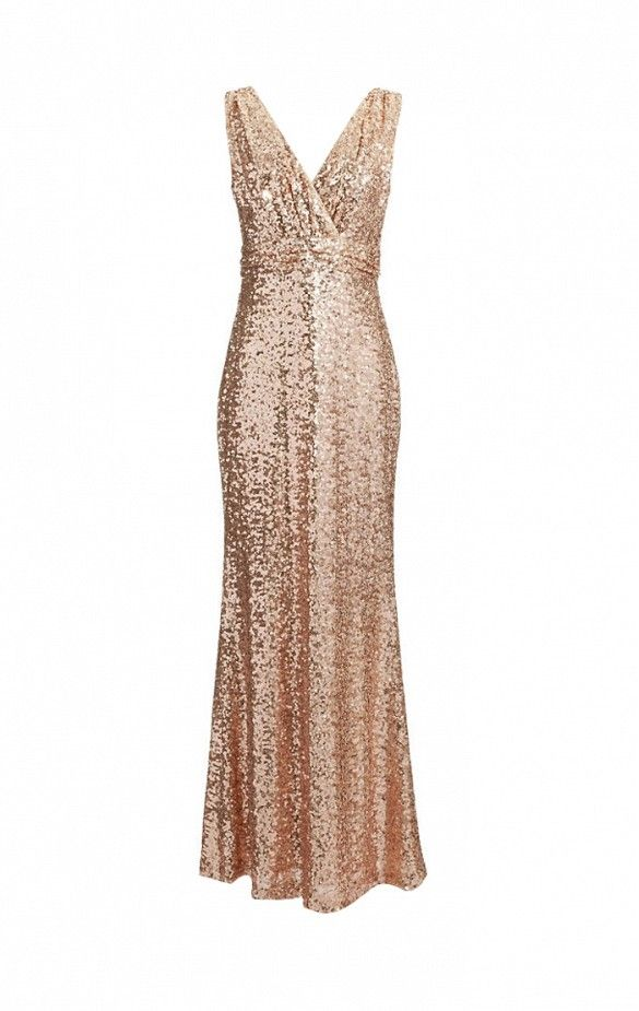 How to Make Sure Your Bridesmaids Are Super Stylish via @WhoWhatWear // Badgley Mischka Sequin Tank Gow