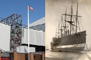 In 1928 a famous addition to the LFC stadium was the flagpole at the Kop End of the ground. The flagpole was originally the top-mast of a famous ship called The Great Eastern. After a long and adventurous life at sea she  was being broken up at a breaking yard in Rock Ferry on the Wirral. The topmast was salvaged by Liverpool's owners, floated across the River Mersey, and hauled up Everton Valley by a team of horses, before being erected alongside the Spion Kop. The mast is still there today