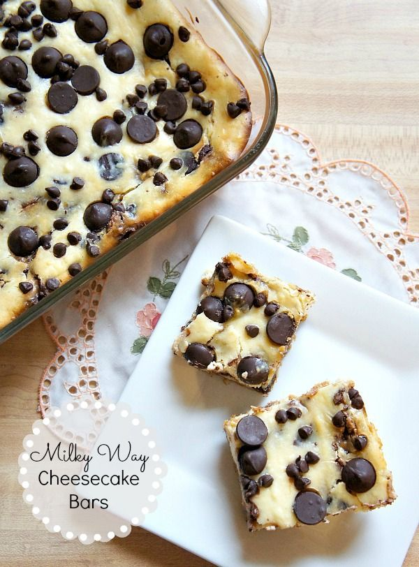 Milky Way Cheesecake Bars!