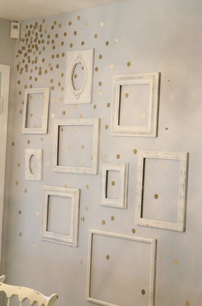 Gold Polka Dot Wall https://www.etsy.com/se-en/listing/184836660/vinyl-polka-dot-circle-wall-decals-set?ref=shop_home_feat_3