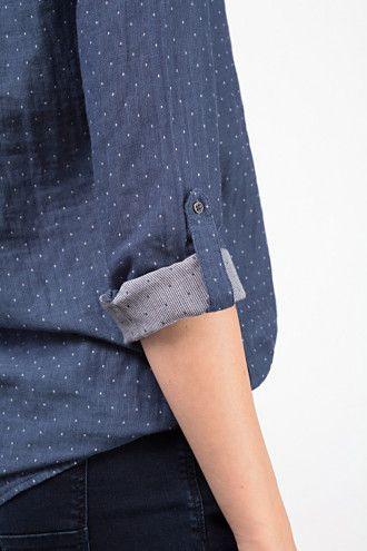 Esprit / Blouse double face, 100 % coton