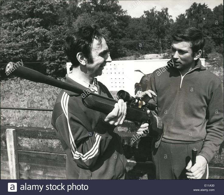 Download this stock image: Jun. 06, 1976 - Great Britain Versus U.S.S.R. In Pre - Olympic Shooting Match At Bisley: A pre-olympic shooting match between Gr - E11A30 from Alamy's library of millions of high resolution stock photos, illustrations and vectors.