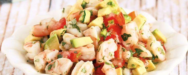 Μεξικάνικη σαλάτα µε γαρίδες, αβοκάντο και τεκίλα