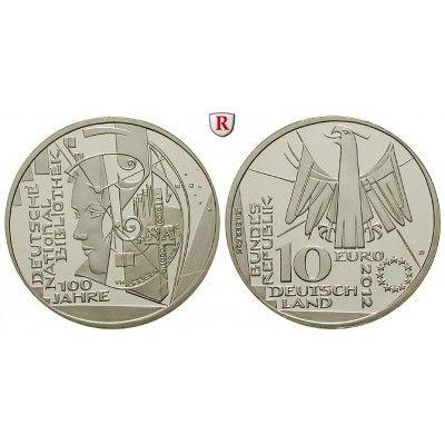 Bundesrepublik Deutschland, 10 Euro 2012, Deutsche Nationalbibliothek, D, 10,0 g fein, PP: 10 Euro 2012 D. Deutsche… #coins