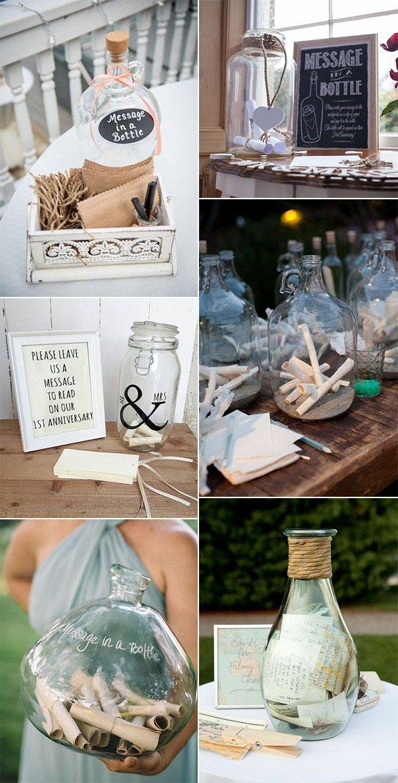 message in a bottle wedding guest book ideas #weddingideas #weddingguestbooks