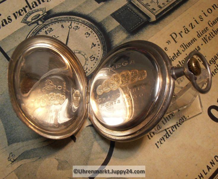 SCHWEIZER OMEGA Taschenuhr mit 24 Stunden Emaille Zifferblatt, in sehr jetzt neu! ->. . . . . der Blog für den Gentleman.viele interessante Beiträge  - www.thegentlemanclub.de/blog